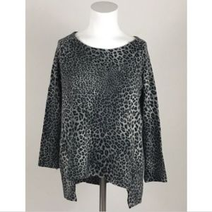 Zara Knit Leopard Print Sweater Small